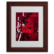 "<strong>Trademark Fine Art</strong> ""Bamboo Style"" Matted Framed Art"