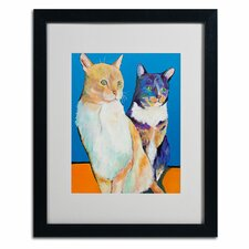 "<strong>Trademark Fine Art</strong> ""Dos Amores"" Matted Framed Art"