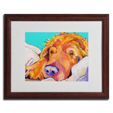 "<strong>Trademark Fine Art</strong> ""Snoozer King"" Framed Matted Art"