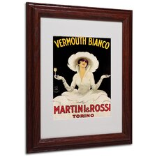 "<strong>Trademark Fine Art</strong> ""Vermouth Bianco Martini & Rossi"" Framed Art"