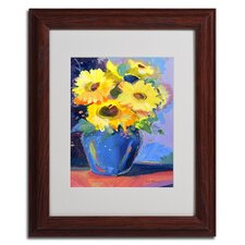"<strong>Trademark Fine Art</strong> ""Sunflowers II"" Framed Matted Art"