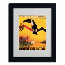 "<strong>Trademark Fine Art</strong> ""L'Amazone"" Framed Matted Art"