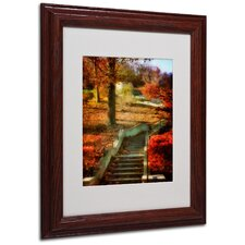 "<strong>Trademark Fine Art</strong> ""Autumn Stairway"" Matted Framed Art"