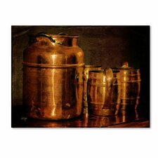 "<strong>Trademark Fine Art</strong> ""Copper Jugs"" Canvas Art"