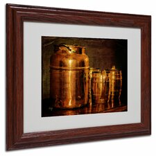 """Copper Jugs"" Matted Framed Art"