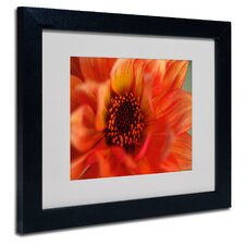 """Fiery Dahlia"" Matted Framed Art"
