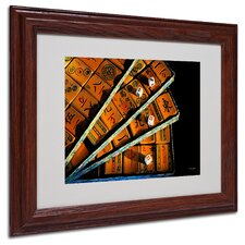 "<strong>Trademark Fine Art</strong> ""Mad for Mahjong"" Matted Framed Art"