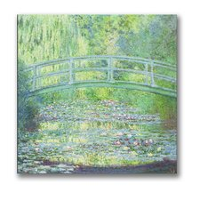 """Waterlily Pond-The Bridge II"" Canvas Art"