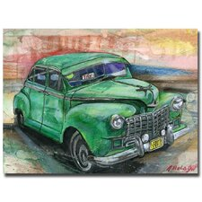 <strong>Trademark Fine Art</strong> Alberto 'Havana Vintage Car' Canvas Art