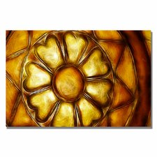 <strong>Trademark Fine Art</strong> 'Copper Metal Flower' Canvas Art