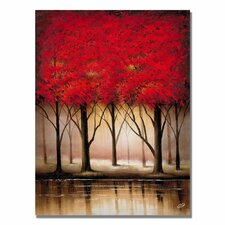 <strong>Trademark Fine Art</strong> 'Serenade in Red' Canvas Art