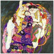 Gustav Klimt 'Virgins' by Gustav Klimt Painting Print on Canvas