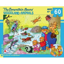 <strong>New York Puzzle Company</strong> Berenstain Bears Woodland Animals 100-Piece Puzzle