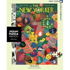 <strong>New York Puzzle Company</strong> Holiday Ornament 100-Piece Puzzle