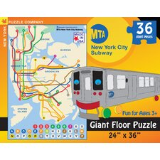 New York City Subway for Kids 36-Piece Floor Puzzle