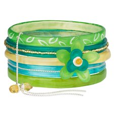 Smell the Roses Happy Flowers IV Bangle (Set of 5)