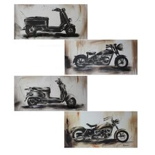 Motorbikes 4 Piece Pencil Drawing Set