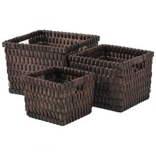 3 Piece Wicker Basket Set