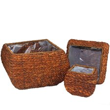 3 Piece Sea Grass Basket Set