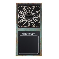 Note Board Metal Wall Clock