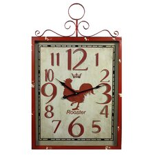 Rooster Metal Wall Clock