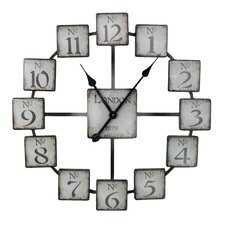 "London Oversized 23.6"" Metal Wall Clock"