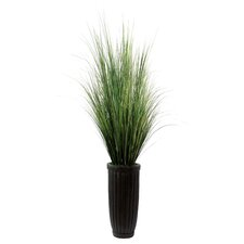 Realistic Grass in Decorative Vase
