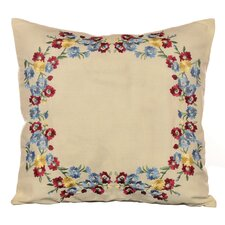 "Melinda 16"" Embroidered Decorative Pillow"