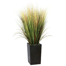 "60"" Realistic Grass Floor Plant in Contemporary Stand"