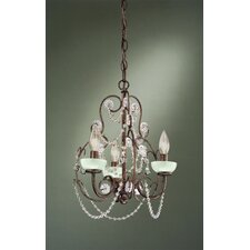 <strong>Laura Ashley Home</strong> Aimee 3 Light Mini Chandelier