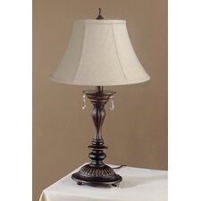 "Beverly 21.5"" H Table Lamp with Calais Bell Shade"