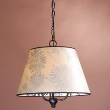 <strong>Laura Ashley Home</strong> Barrel Pendant Shade in Chrysanthemum/Black