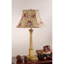 "Corinthian 22.13"" H Floral Table Lamp with Bell Shade"