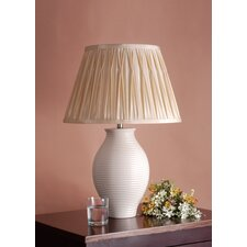"Lily 22"" H Table Lamp with Pleated Empire Shade"