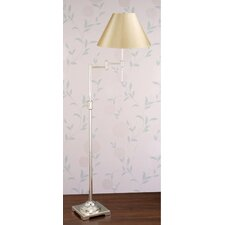 <strong>Laura Ashley Home</strong> State Street Swing Arm Floor Lamp with Classic Shade
