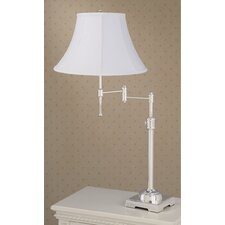 State Street Swing Arm Table Lamp with Calais Shade