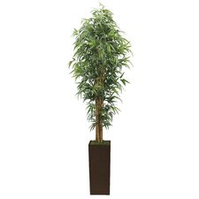 Tall High End Realistic Silk Bamboo Tree in Planter