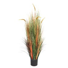 Onion Grass with Cattails