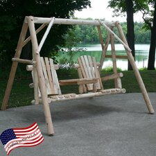 <strong>Lakeland Mills</strong> Tete-A-Tete Porch Swing with Stand