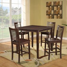 <strong>Dorel Asia</strong> 5 Piece Counter Height Dining Set