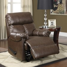 Faux Leather Padded Recliner