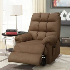 Padded Microfiber Massage Recliner