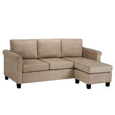 <strong>Dorel Asia</strong> Space Saving Microfiber Sectional