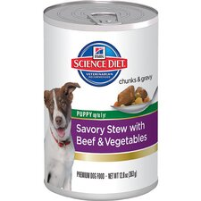 12.8 oz Puppy Savory Stew with Beef and Vegetables Wet Dog Food (Set of 12)