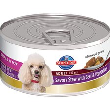 5.5-oz Small and Toy Adult Savory Stew with Beef and Vegetables Wet Dog Food (Set of 24)