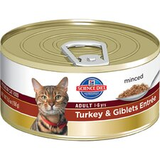 Adult Turkey and Giblets Entrée Wet Cat Food (5.5-oz)