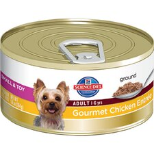 Small and Toy Adult Gourmet Chicken Entrée Wet Dog Food (5.8-oz)