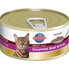 Adult Gourmet Beef Entrée Wet Cat Food (5.5-oz)
