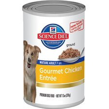 Mature Adult Gourmet Chicken Entrée Wet Dog Food (13-oz)