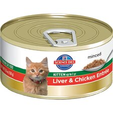 Kitten Liver and Chicken Entrée Wet Cat Food